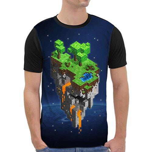 VOID Mine Tower T-Shirt Herren All-over Druck cube block würfel spiel game, Größe:XS