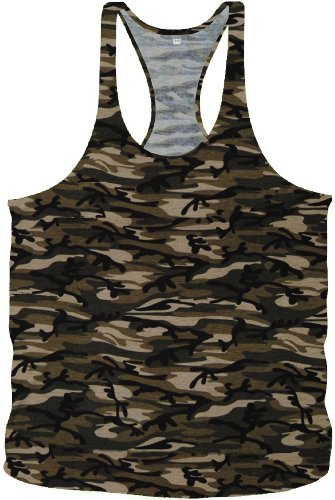Bodybuilding Army Camouflage Stringer Tanktop Fitness Muskel Muscle Shirt Vest in 4 Farben (M, Classic Army)