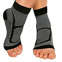 AXspeed 1 Pair Ankle Support Compression Socks Sports Plantar Fasciitis Foot Care Sleeve Socks (S)