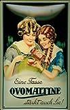 Ovomaltine femmes rahmenlos plaque en tôle signe de tin en métal de 20 x 30 cm