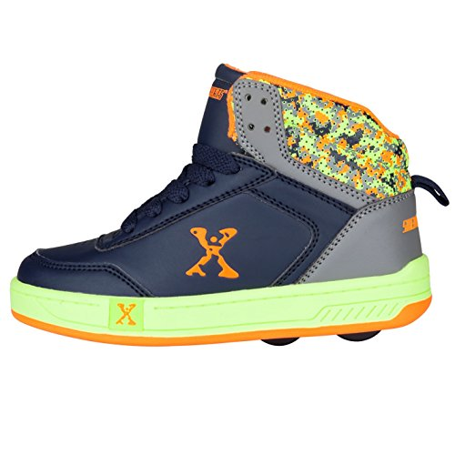 Sidewalk Sport Kinder Jungen Hi Top Schuhe Mit Rollen Heelys Rollschuhe Navy/Lime