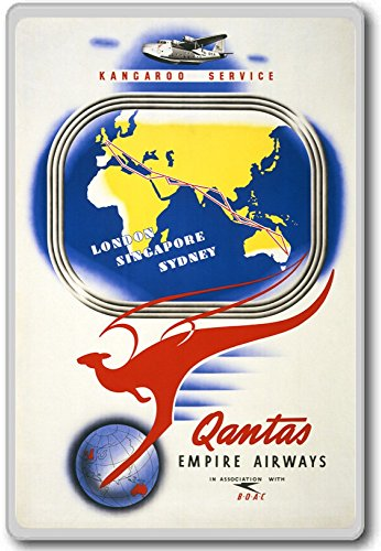 kangaroo-service-qantas-empire-airways-vintage-travel-aviation-fridge-magnet-aimant-de-refrigerateur