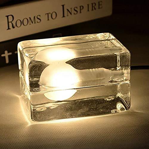 GCCLCF Modern minimalistisch geführtes Nachtlicht seltsame kreative Kunst Nachtzimmer-Lampe Briketts