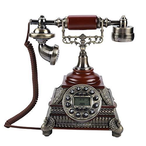Europa FSK/DTMF-Rufnummernanzeige Weinlese-antikes Telefon EIN-Knopfwahlwiederholung Retro-Telefon für Wohnzimmer,Schlafzimmer,Hotel,Arbeitszimmer usw. Europa-telefon