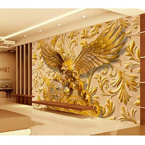 Pmhhc Papier Peint Personnalisé Exposition Grande Sculpture En Trois Dimensions Sculpture Salon Tv Fond Mur 3D Papier Peint-450X300Cm