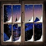 Weihnachten Schnee Ecke Fenster Sticker Packung X8 - Vinyl abziehen und aufkleben Dekoration