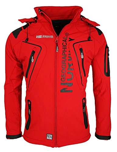 Geographical Norway Tambour Herren Softshell Jacke, Rot, XL