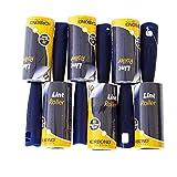 Korbond 5m LINT ROLLER - 6 Roller Multipack - voor kleding, meubels en tapijt. Verwijdert Lint, Stof, Haar, Huisdier Haar en Fluff - 210 Sticky Pre-Cut Papier Vellen 30m Lijm