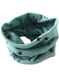 Schal - SODIAL(R)Jungen Maedchen Kragen Baby Schal Baumwolle O-Ring Hals Schals (gruen)