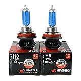 2x H8 12V 35W HALOGENLAMPE GLÜHLAMPE GLÜHBIRNE LAMPE BIRNE Original LIMASTAR XENON EFFEKT SUPER WHITE 1A
