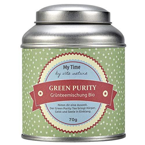 My Time Green Purity, Grünteemischung Entschlackungskur Bio, 1er Pack (1 x 70 g)