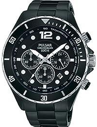 Pulsar Herren-Armbanduhr Analog Quarz Edelstahl beschichtet PT3721X1