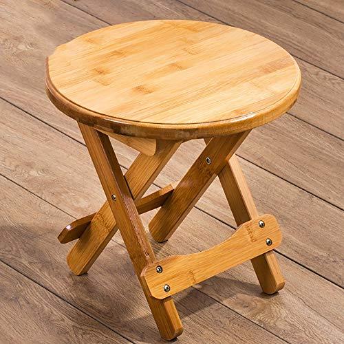 ZXY Ändern Sie Schuh-Bank, Feste Holzschemel-Schemel-Falte, bequemes im FreienMazar, Fischen-Bank, Mini runder Stuhl (Mini-falte-stuhl)