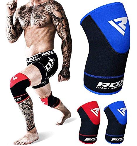 RDX Kniestütze Sport Knieschoner Kniebandage Elastische Knieorthese Knieschützer (Das Paket Enthält Einzelstück)