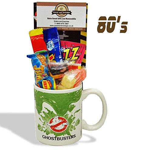 Ghostbusters Slime Mug with a spooky selection of 80's retro sweets.