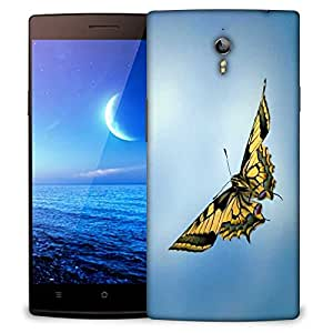 Snoogg Dragon Butterfly Designer Protective Phone Back Case Cover for Oppo Find 7