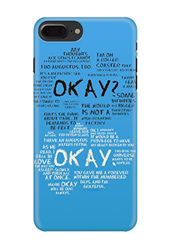 2019 Fault IN Our Stars Awesome LOVELLY Quotes Movies Romance .Full 3D Effect Phone case Cover Shell for Apple iPhone and Samsung- iPhone 8-19