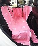 CHONGWUZUODIAN Hundeboot mit Wasserdichter Hinterer Auto-Matte Auto-Matte Hintere Auto-Matte Hundekissen Haustier-Autositzkissen, Pink