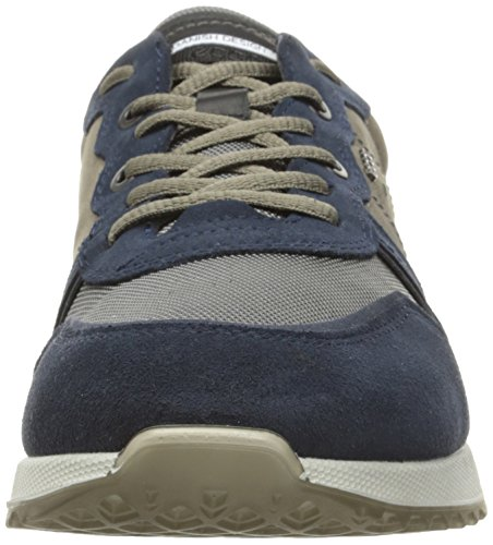 Ecco Herren Sneak Men's Low-Top Mehrfarbig (50300marine/warm Grey)