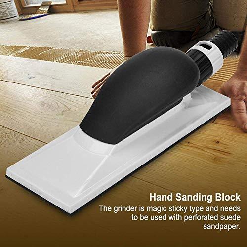 GCDN Handschleifblock, Handschleifpad Handschleifer Handstaub-Extraktion Schleifblock, Palmenschleifblock Staubabsaugung Vakuum-System (70 x 198 mm), Wie abgebildet, 70x198mm (Staubabsaugung-system)