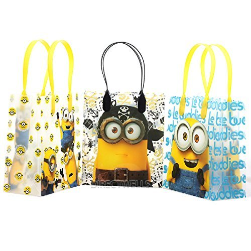 Despicable Me Minions Premium Quality Party Favor Goodie Small Gift Bags 12 by Universal Studios