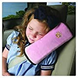 Tefamore Autositze Gurtpolster Schlafkissen Nackenstütze , Baby Kinder Sicherheitsgurt Auto Sitz Gürtel Kissen Schulter Schutz (Rosa)