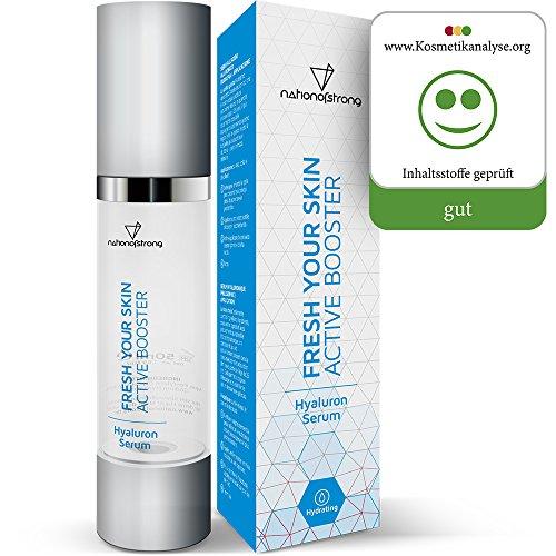Hyaluronsäure Serum hochdosiert | nur 4 (!) Inhaltsstoffe - sonst nichts! | 50ml Feuchtigkeitsserum Fresh Your Skin | vegane Bio-Qualität...
