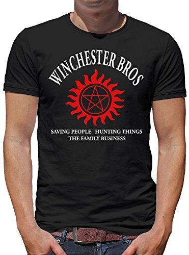 TLM Winchester Bros - The Family Business T-Shirt Herren M Schwarz (Hammer Bros Halloween Kostüm)