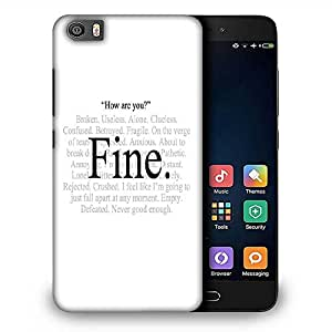 Snoogg Im Fine express yourself Designer Protective Back Case Cover For Samsung Galaxy J1