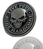 Daywalker-Bikestuff Live Free Ride Hardcore & # x2022; Biker Pin & # x2022; Chopper Bobber & # x2022; MC Club & # x2022; Kutte & # x2022; Badge & # x2022; Live Free USA