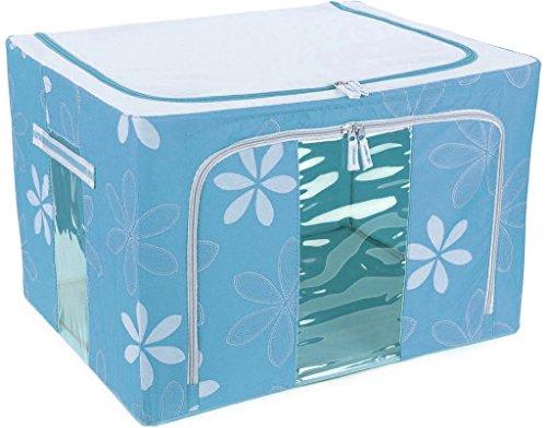 MSE Jumbo Saree_Lehenga_Woolens Storage Box (66 Liters) Foldable Collapsible Wardrobe Almirah Cabinet...