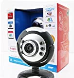 Logicam Easycam Webcam (USB, eingebautes Mikrofon, Plug and Play, 6LEDs, keine Treiberinstallation nötig, ideal für Chats)