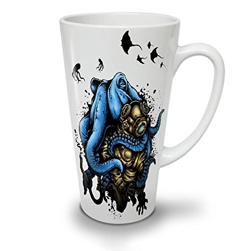 Tintenfisch Monster Horror WeißTee KaffeKeramik Kaffeebecher 17 | Wellcoda