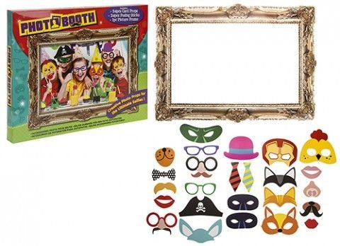 Partito bambini puntelli foto Photo Booth Props con cornice Fun Commedia Booth