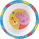 Fun House 005173 Peppa Pig Bol Micro-Ondable pour Enfant Polypropylène Jaune 16 x 16 x 4 cm