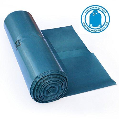 iLP 120 L sacchi per la spazzatura - estremamente resistenti allo strappo - rotolo da 25 - tipo 100 extra - sacchi per la spazzatura XXL sacco dell'immondizia - 70? - 700x1100 mm - LDPE - smaltimento dei rifiuti perfetto per la casa, il giardino, locali commerciali e l'edilizia - blu
