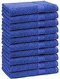 10er Pack Gästehandtücher Gästetuch Premium Größe 30x50 cm Farbe Royal Blau 100% Baumwolle