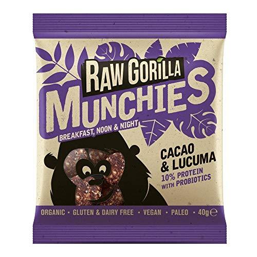 Raw Gorilla | Organic Cacao & Lucuma Munchies 40g | 1 x 40g (DE)