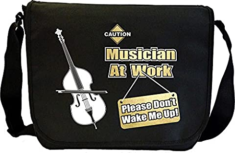 Double Bass Dont Wake Me - Sheet Music Document Bag Sacoche de Musique MusicaliTee