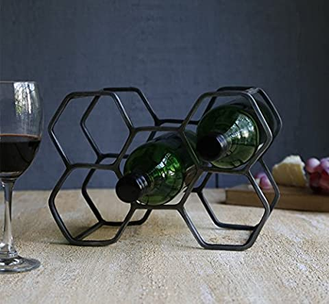 Store Indya Wrought Iron Wine Rack Stand Bottle Holder with