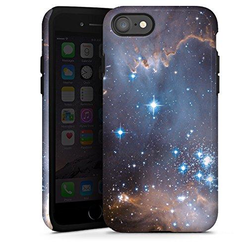 Apple iPhone X Silikon Hülle Case Schutzhülle Sterne Galaxie Universum Tough Case glänzend
