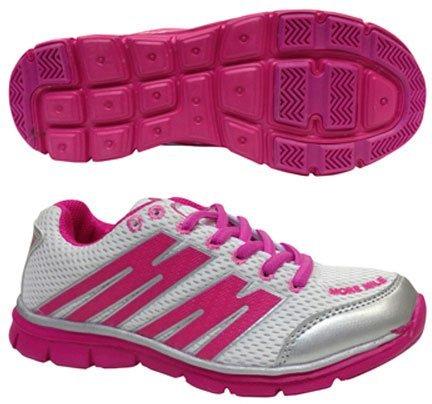 More Mile mm1693Oslo Sneaker ragazza Bianco/Rosa bianco/rosa