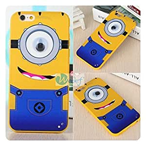 New Soft Cartoon Cell Phone Back Cover Case for Apple iPhone 6 6s 4.7 inches Minions Big Eye style P68