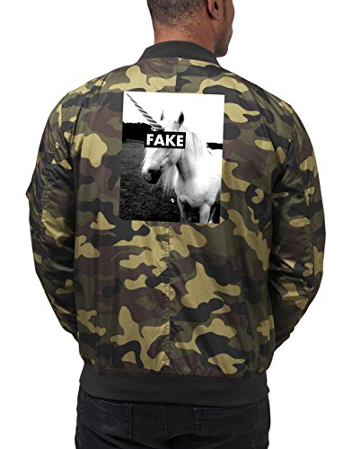 Fake Unicorn Bomberjacke Camouflage Certified Freak-S