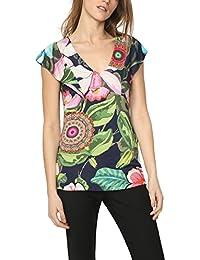Desigual E Shirt Shirt Amazon Bluse Top it Blu T OqTq754w