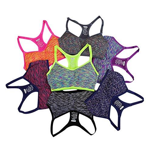 ishine soutien-gorge de sport fitnesse running youga underwear femme Gris