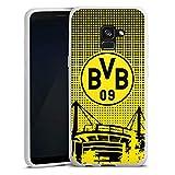 DeinDesign Silikon Hülle kompatibel mit Samsung Galaxy A8 Duos 2018 Case Schutzhülle BVB Muster Borussia Dortmund