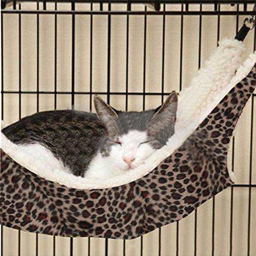 joygood Pet Animal Cat Kitty Aufhängen Frettchen Hängematte Leopard Design Bettwäsche Etagenbett Sleepy Pad Größe L -