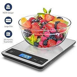 Bilancia da Cucina,Homever 15kg in Acciaio Inossidabile Bilancia da Cucina Elettronica con Pannello 9 * 6,3 Inch…