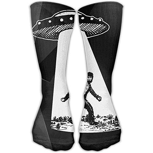 ncnhdnh UFO Bigfoot 3D Printing Unisex High Stockings